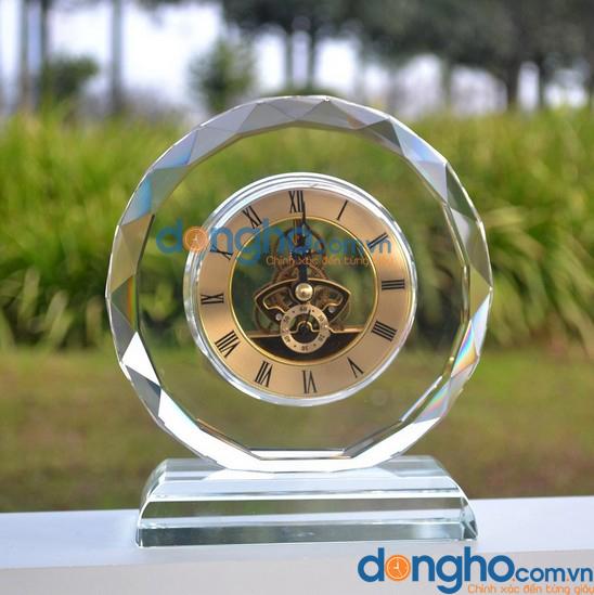 Đồng hồ để bàn pha lê 14