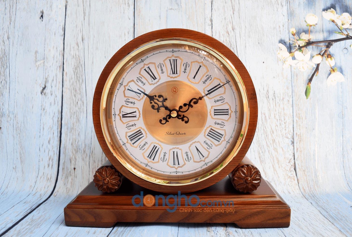 Đồng hồ để bàn gỗ HM22